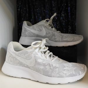 White Lace Nike Shoes